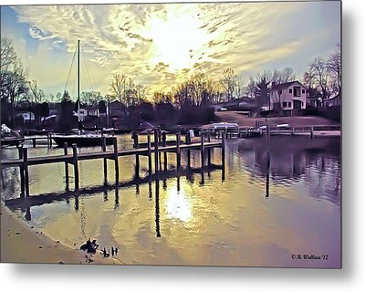 White's Cove In Winter Metal Print by Brian Wallace