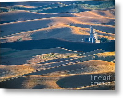 Whitman County Grain Silo Metal Print by Sandra Bronstein