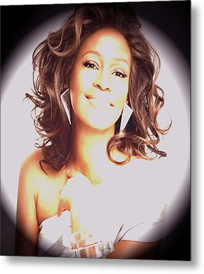 Whitney Houston Song Bird No. 3 Metal Print by De Beall