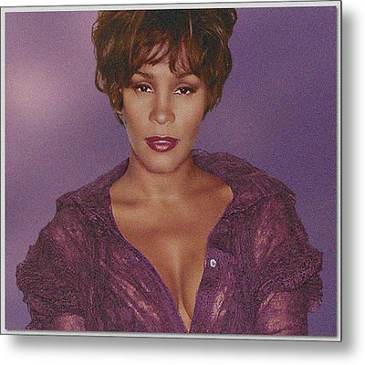 Whitney Houston Song Bird No. 4 Metal Print by De Beall