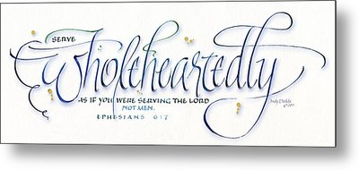 Wholeheartedly Metal Print by Judy Dodds