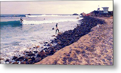 Why We Surf Metal Print by Ron Regalado