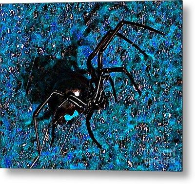 Wicked Widow - Blue Metal Print by Al Powell Photography USA