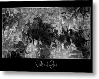 Metal Print featuring the digital art Wild And Free by Kim Redd