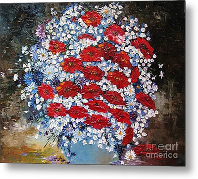 Wild Flowers Metal Print by AmaS Art