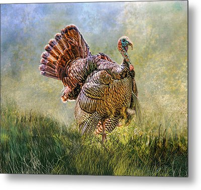 Metal Print featuring the digital art Wild Turkey by Mary Almond