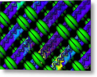 Metal Print featuring the digital art Wild Weave by Manny Lorenzo