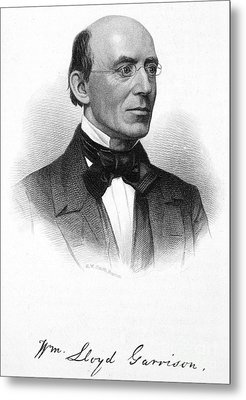 William Lloyd Garrison Metal Print by Granger