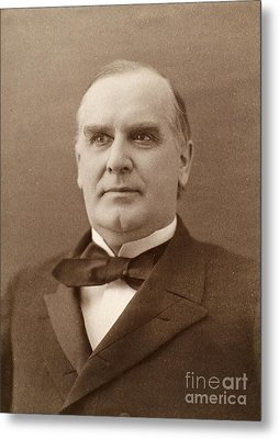 William Mckinley (1843-1901). 25th President Of The United States. Photographed In 1896 Metal Print by Granger