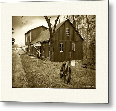 Williston Mill - Sepia Metal Print by Brian Wallace