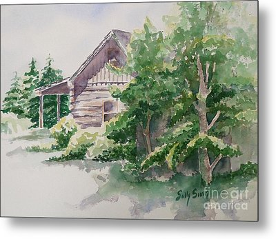 Metal Print featuring the painting Will's Cabin by Sally Simon