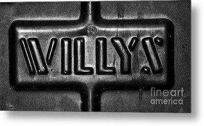 Willys Emblem Metal Print by Juls Adams