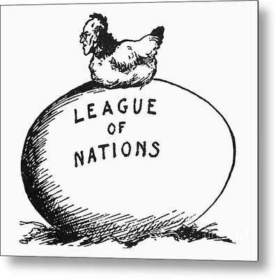 Wilson: League Of Nations Metal Print by Granger