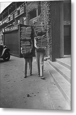 Wimbledon Cushions Metal Print by H F Davis