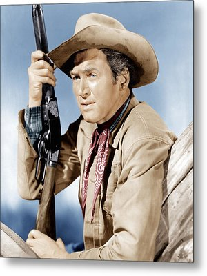 Winchester 73, James Stewart, 1950 Metal Print by Everett