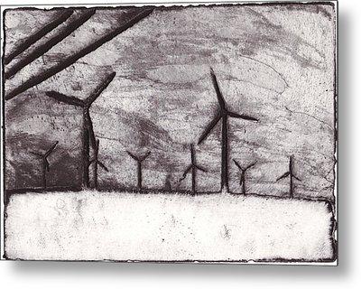 Wind Farming Metal Print by Taylor Lee Bisbee