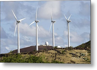 Wind Turbines At The Ascension Metal Print by Stocktrek Images