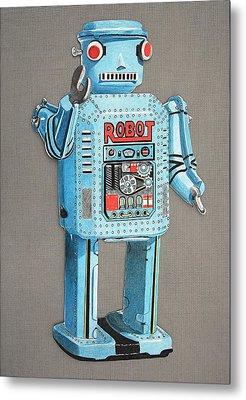 Wind-up Robot 2 Metal Print