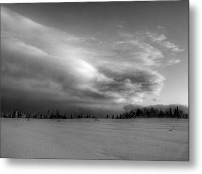 Metal Print featuring the photograph Windblown Cloud by Michele Cornelius