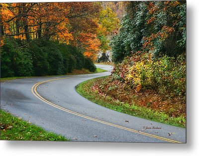 Metal Print featuring the photograph Winding Road by Joan Bertucci