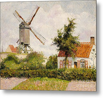 Windmill At Knokke Metal Print by Camille Pissarro