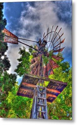 Windmill Hdr Metal Print