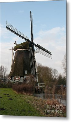 Metal Print featuring the digital art Windmill In Amsterdam by Carol Ailles