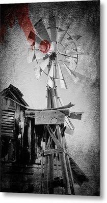 Windmill Metal Print by James Bethanis