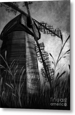 Windmill Wounded Metal Print
