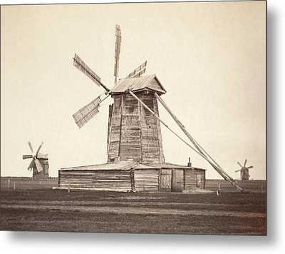 Windmills Near Omsk, Siberia Metal Print by Everett