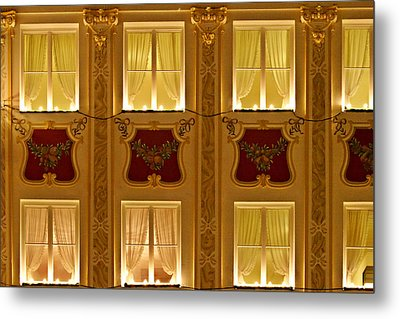 Window Candles Nostalgia Metal Print by Christine Till