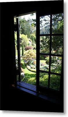 Metal Print featuring the photograph Window Garden by Jerry Cahill