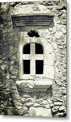 Window Of Stone Metal Print by Joana Kruse