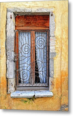 Metal Print featuring the photograph Window Provence France by Dave Mills