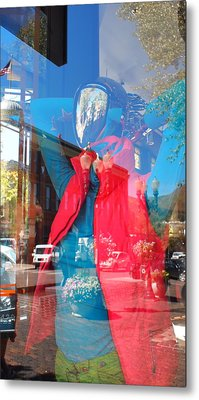 Window Shopping In Aspen Metal Print