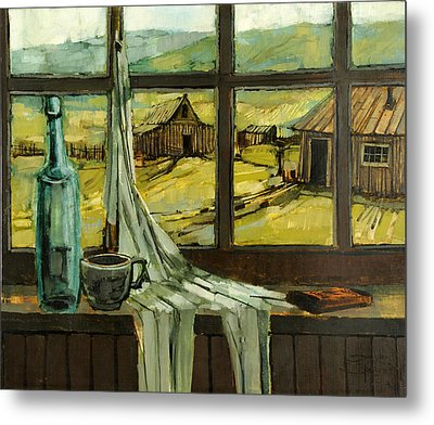 Metal Print featuring the painting Window Upon The Past by Steve Spencer