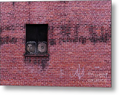 Window With Fans Metal Print by HD Connelly