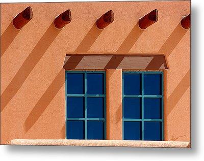 Windows Blue Metal Print by Vicki Pelham