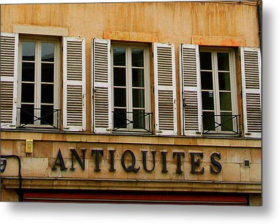 Metal Print featuring the photograph Windows Of Antiquites by Laurel Talabere