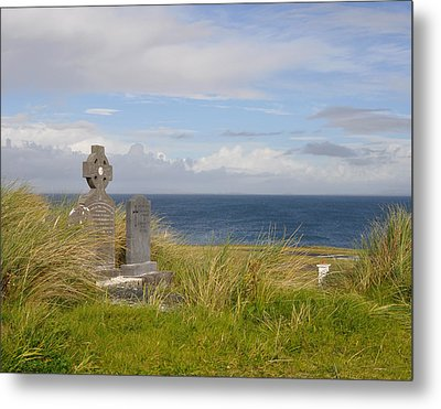 Metal Print featuring the photograph Windswept Grave by Cheri Randolph