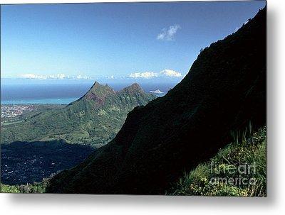 Windward Oahu From The Koolau Mountains Metal Print by Thomas R Fletcher