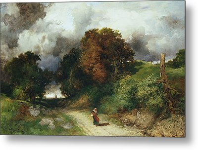 Windy Hilltop Metal Print by Thomas Moran
