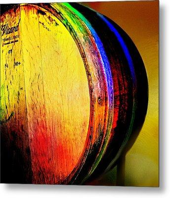 Wine Barrel Metal Print by Cindy Edwards
