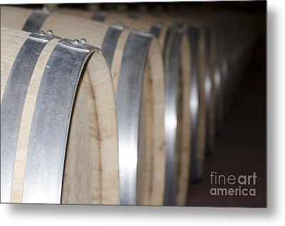 Wine Barrels Metal Print by Mats Silvan