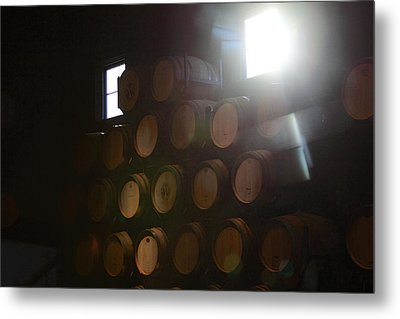 Wine Barrels Metal Print by Viktor Savchenko
