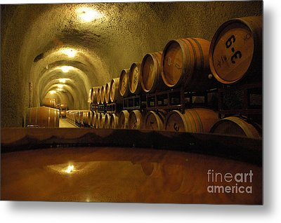 Wine Cellar Metal Print by Micah May