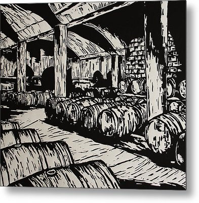 Wine Cellar Metal Print by William Cauthern