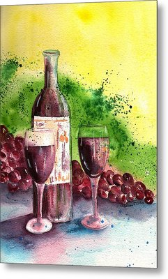 Wine For Two - 2 Metal Print by Sharon Mick