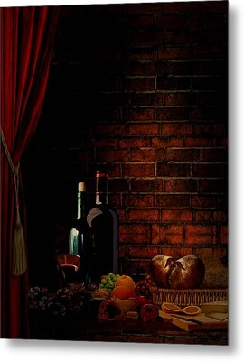 Wine Lifestyle Metal Print
