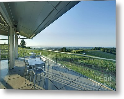 Wine Tasting Balcony Metal Print by Rob Tilley